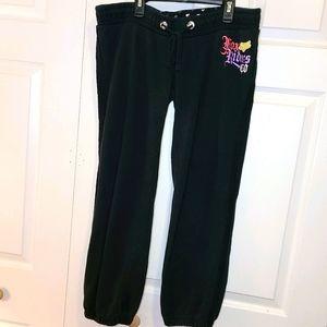 FOX Women's Black Sweatpants Capri sz Large